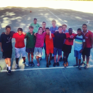 LPI Sevilla playing soccer with the locals!