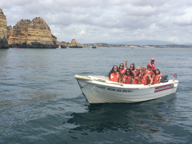 ISA High School participants from the Sevilla program on an excursion to Lagos, Portugal in 2014.